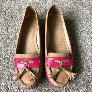 Kate Spade Tassel Leather Penny Loafers